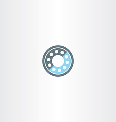 roller bearing icon symbol vector image