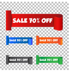 Sale 70 off sticker label on isolated background vector
