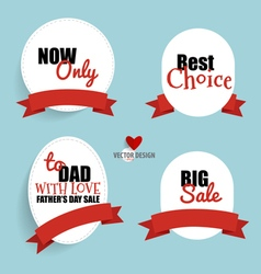 Sale Coupon voucher tag Happy Mothers Day vector image vector image
