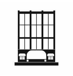Shopping center store building icon vector