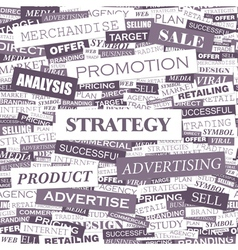 STRATEGY vector image vector image