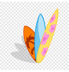 Surf boards isometric icon vector