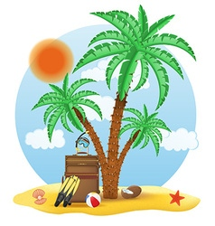 tropical palm tree 04 vector image vector image