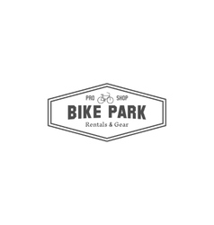 Vintage mountain bike shop park camping badge vector