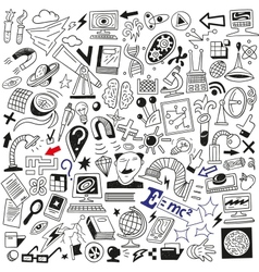 Science doodles vector image