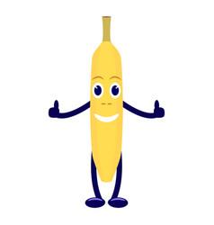 cartoon character yellow banana vector image