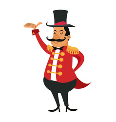 Cartoon host man circus festival vector