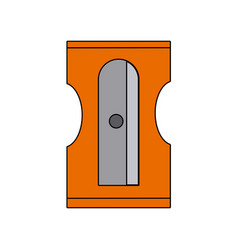 sharpener pencil tool school icon vector image