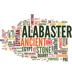 Egyptian alabaster text background word cloud vector