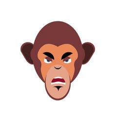 Monkey angry emoji marmoset aggressive emotion vector