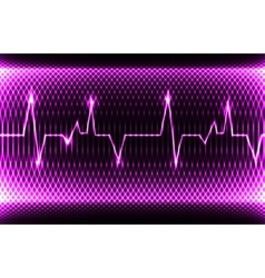 Colorful human heart normal sinus rhythm vector