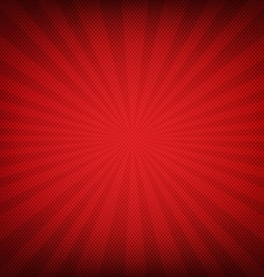 Red Burst Poster vector image