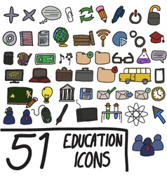 51 icons color vector image vector image
