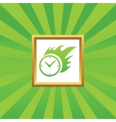 Burning time picture icon vector