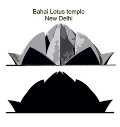 Lotus temple vector