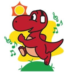 Dinosaur jogging vector