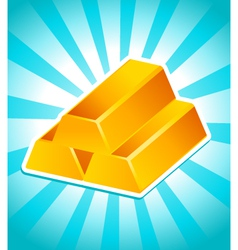 Golden bars vector