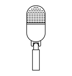 News microphone isolated icon design vector