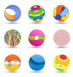 Abstract creative spheres vector image