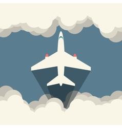Aircraft flat vector image vector image