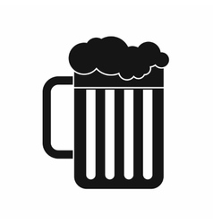 Beer mug icon simple style vector image