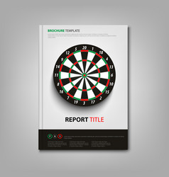 brochures book or flyer with dart board template vector image