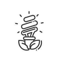 bulb - modern single line icon vector image vector image