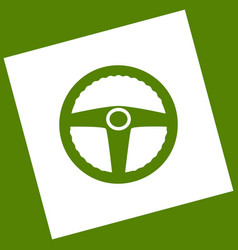 Car driver sign white icon obtained as a vector
