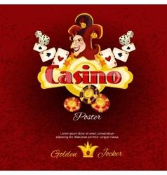Casino Poster Illlustration vector image vector image