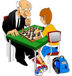 Chess championship vector