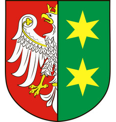 coat of arms of lubusz voivodeship in western vector image