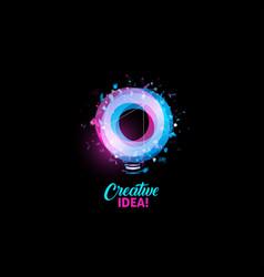 creative idea logo light bulb abstract vector image vector image