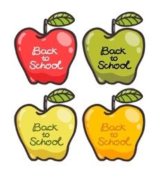 Cute cartoon apples back to school vector