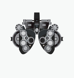 Eye examination isolated on white background vector