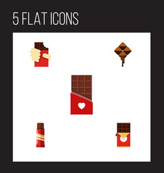 Flat icon bitter set of chocolate delicious vector