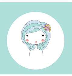 Horoscope virgo sign girl head vector