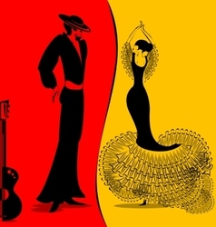 image of flamenko vector image vector image