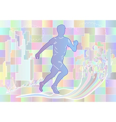 Jogging multicolor silhouette vector
