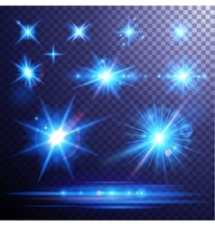 Lens flares and light effects set vector image vector image