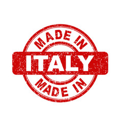 made in italy red stamp on white background vector image