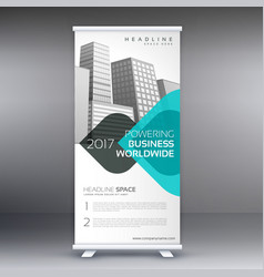 Modern trendy standee roll up banner design vector