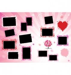 photo album page vector image vector image