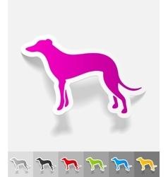 Realistic design element greyhound vector