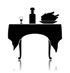 Restaurant little table vector image vector image