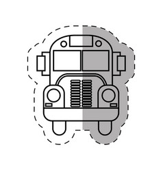 school bus transport thin line vector image