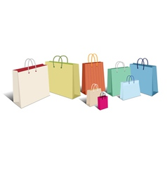 Shopping bags retro vector