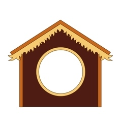 Silhouette stable manger icon vector
