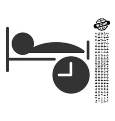 Sleep time icon with professional bonus vector