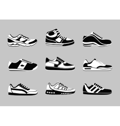 Sneakers icons vector