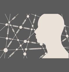 social media tags cloud vector image